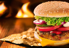 Whopper cheese burger Stock Image