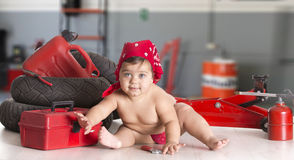 Whorkshop baby Stock Images