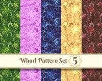 Whorl Pattern set Stock Photo