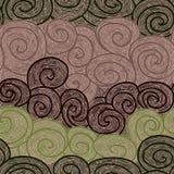 Whorl seamless hand drawn pattern Royalty Free Stock Photography
