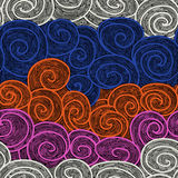 Whorl seamless hand drawn pattern Stock Photography