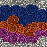 Whorl seamless hand drawn pattern Stock Photography