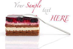 Whortleberry cake Royalty Free Stock Image