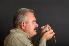 Whose mustache more Stock Photo