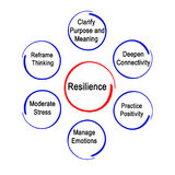 Resilience. Whot to do to gain Resilience stock illustration