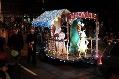 Whoville pławik w lokalnej wakacyjnej paradzie zdjęcia stock