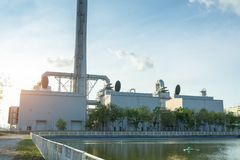 WHRU waste heat recovery unit, WHRU waste heat recovery unit in power plant.  stock photos