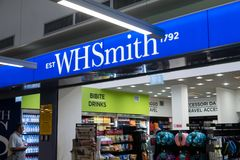 WHSmith books shop exterior royalty free stock image