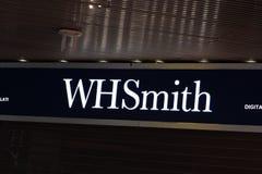 WHSmith books shop. Rome, Italy - February 12, 2019: WHSmith books shop signage stock photo