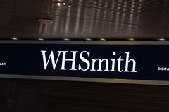 WHSmithboekhandel stock foto