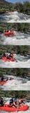 Whte-Wasserrennen Stockfoto
