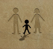 Why. Illustration about education and social problems.Textured brown paper and cutout technique royalty free illustration