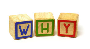 Why. Made of wooden blocks Royalty Free Stock Photography