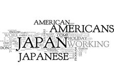 Why Are Americans Treated Differently In Japan Word Cloud. WHY ARE AMERICANS TREATED DIFFERENTLY IN JAPAN TEXT WORD CLOUD CONCEPT Royalty Free Stock Image