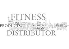 Why Become A Fitness Distributor Word Cloud Stock Photos