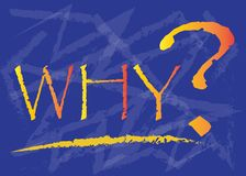 Why with a big question mark. In a blue shaded background vector illustration royalty free illustration