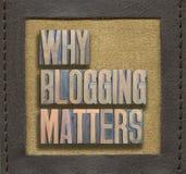 Why blogging matters framed Stock Image