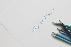 Why so blue Royalty Free Stock Images