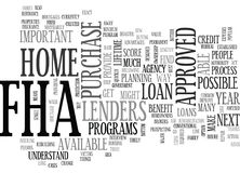 Why Bother With Fha Word Cloud royalty free illustration
