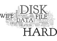 Why Bother To Wipe Hard Disk Drives Word Cloud. WHY BOTHER TO WIPE HARD DISK DRIVES TEXT WORD CLOUD CONCEPT Royalty Free Stock Photos