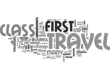Why Choose First Class Travel Word Cloud Stock Photography