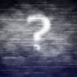 Why Cloud Computing?. A concept image asking the question, Why Cloud Computing. The clouds are made up of binary numbers with a ghostly question mark Stock Images