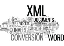 Why Convert Process In Word To Xml Documents Word Cloud. WHY CONVERT PROCESS IN WORD TO XML DOCUMENTS TEXT WORD CLOUD CONCEPT vector illustration