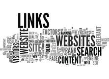 Why Dated Content And Dead Links Will Punish Your Site Word Cloud Royalty Free Stock Photography