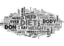 Why Diets Don T Work Word Cloud Stock Photos