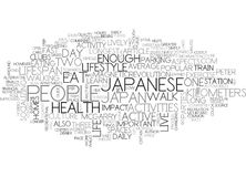 Why Do The Japanese Have The Longest Lifespan Part Live The Lifestyle Word Cloud Royalty Free Stock Photos