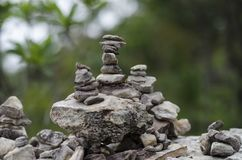 Why do people like sort stone?. Some people believe that  believe that the stone pagoda make a prosperous life Royalty Free Stock Photo