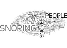 Why Do People Snore Word Cloud Stock Photos