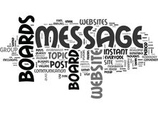 Why Do Some Websites Have Message Boards Word Cloud Stock Image
