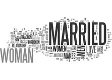 Why Do Women Get Attracted To Married Men Word Cloud Royalty Free Stock Image