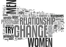 Why Do Women Want To Change Their Partner Word Cloud Stock Image