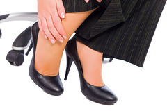 Why do women wear high heels if it hurts?. Hurting feet while wearing high heels all day Royalty Free Stock Photos