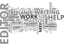 Why Do You Need A Freelance Editor And Editorial Services Word Cloud Royalty Free Stock Photo