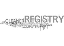 Why Do You Need A Registry Cleaner Word Cloud Stock Image