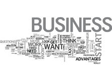 Why Do You Want To Start A Business Word Cloud Royalty Free Stock Images