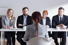 Why do you want to work in our corporation? Stock Images