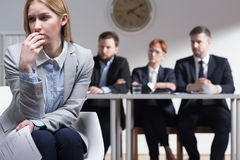 Why do you want to work in our corporation? Stock Photo