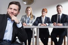 Why do you want to work in our corporation? Royalty Free Stock Photo