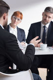 Why do you want to work in our corporation? Stock Image