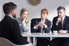 Why do you want to work in our corporation? Stock Photos