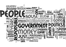 Why Does Anyone Listen To Politicians Word Cloud Royalty Free Stock Image