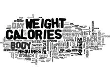 Why Does The Weight Come Back Word Cloud Stock Photography