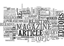 Why Don T Magazine Editors Like My Article Ideas Word Cloud Royalty Free Stock Images