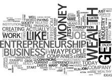Why Entrepreneurship Is The Way To Wealth Word Cloud Stock Photo