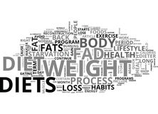 Why Fad Diets Don T Work Word Cloud. WHY FAD DIETS DON T WORK TEXT WORD CLOUD CONCEPT Stock Image