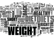 Why Fad Diets Dont Work Word Cloud. WHY FAD DIETS DONT WORK TEXT WORD CLOUD CONCEPT Stock Image